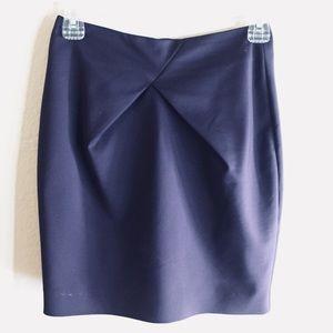 Satin Plum Pencil Skirt